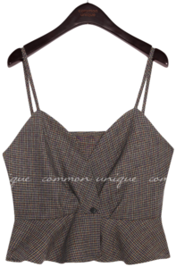 RATEL WOOL CHECK SET-UP BUSTIER