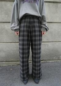 woolen check pants