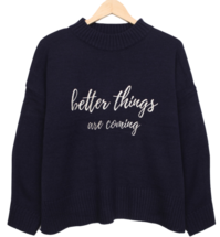 Barrel Lettering Knit