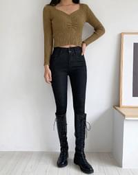Double high skinny jeans