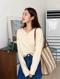 Soap v-neck wool knit_C (울 20%, 캐시미어 10%) (size : free)