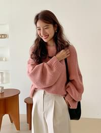 Corny wool round knit_A (울 40%, 알파카 5%) (size : free)
