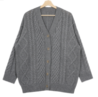 Once Cable Wool Loose Cardigan
