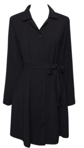 Revere Collar Long Sleeve Dress