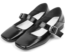 little girl glossy shoes