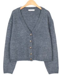 deep neckline wool cardigan (3colors)