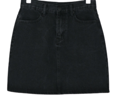 Wearable basic mini skirt Daily H-line denim mini skirt