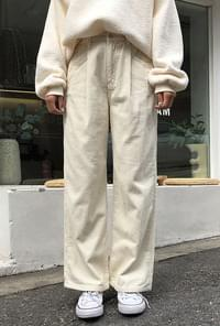 Pintuck corduroy pants