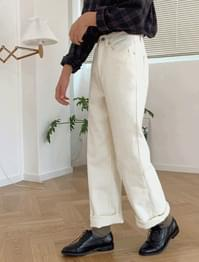 Napping wide cotton pants