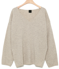 v neck cashmere top
