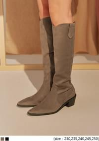 BITE SUEDE WESTERN LONG BOOTS