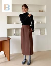 Benne wool wrap skirt_A (울 50%) (size : S,M)