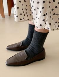 Simple angora wool socks_C (size : one)