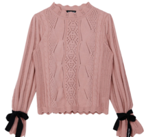 Lonely Lace Ribbon Sweater