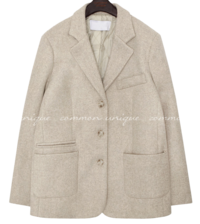 ROMAIN BOKASHI WOOL SINGLE JACKET