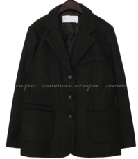 Notch Collar Single Breasted Jacket
