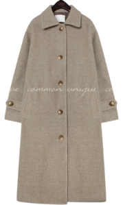 PEGGY WOOL 50% LONG MAC COAT
