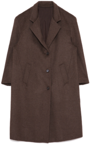 cashmere over long coat - woman