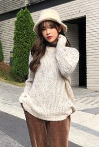 Round mohair knit
