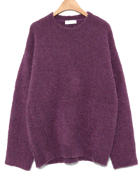 round neck curly knit