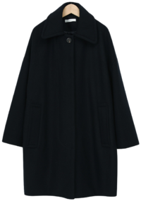 Merd collar wool coat_A (size : free)