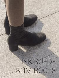 Ink suede slim boots _H