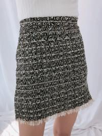 Surgical tweed skirt