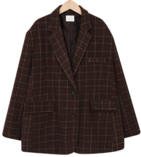 Louid check wool jacket_U (size : free)