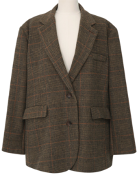 Louid check wool jacket_U (울 10%) (size : free)