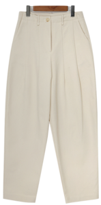 Lane cotton pin-tuck pants_N