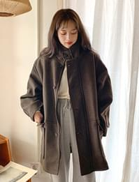 Cliff warm high-neck coat_C (size : free)