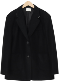 Francis collar wool jacket_A (size : free)
