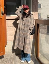 Mondry wool check coat_N (울 30%) (size : free)