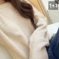 Dot soft double round knit 1 + 1