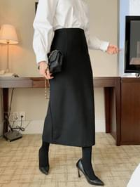 Formal wool skirt