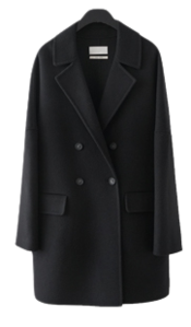 wide-neck handmade half coat