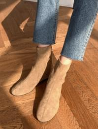 Suede Booty Ankle Boots