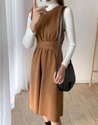 Knit Pin Tuck Dress