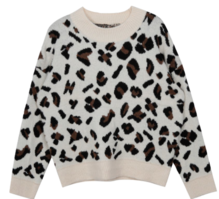 Fluffy Leopard Knit