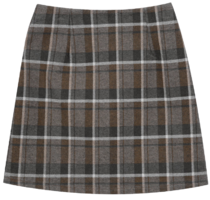 Binz check mini skirt