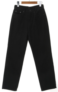 Brushed straight fit cotton pants