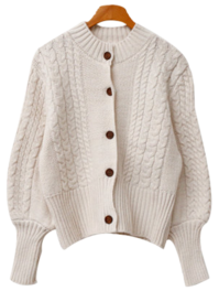 Bean sleeve knit cardigan
