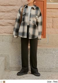 ROST WOOL CHECK LOOSE FIT SHIRTS