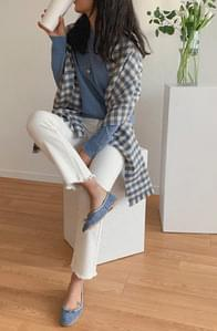 Jeanne Gingham check scarf