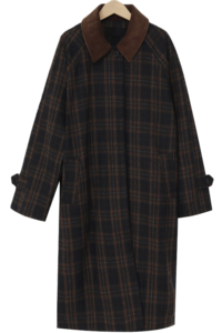 Motive collar check coat_C