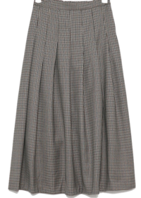 banding pleats flare skirt