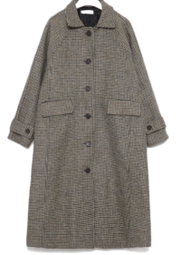 bonita check napping wool coat 大衣外套