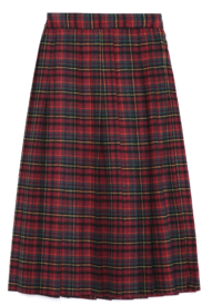 pleats check midi skirt - woman