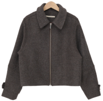 Croute wool zipper jacket_C (size : free)