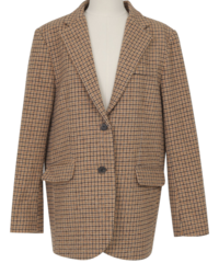 Frame wool check jacket_C (size : free)